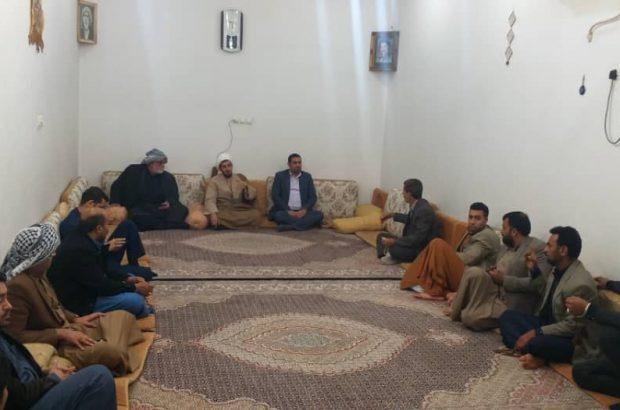 جلسه دکتر اکبر یاوری زهیری با جوانان و معتمدین شهر ملاثانى