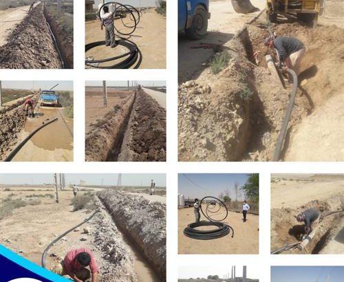 روستای فاقد شبکه آب ابوفلوس آبادان به شبکه آبرسانی مجهز شد