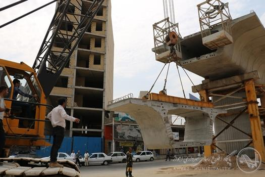 یازدهمین سگمنت در تقاطع غیر همسطح شهید کجباف نصب شد