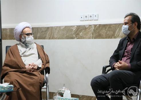دیدار شهردار اهواز با آیت الله حیدری نماینده مردم استان در خبرگان رهبری