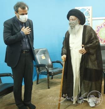 دیدار شهردار اهواز با زعیم حوزه های علمیه استان