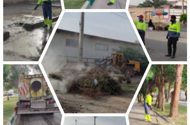 ادامه عملیات روزانه پاکسازی ویژه در محلات کم برخورداربمناسبت عید سعید فطر