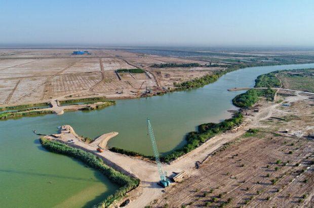 ساخت بند خاکی اضطراری مارد بر روی رودخانه کارون پایان یافت