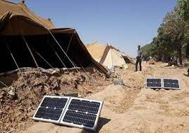 برخورداری عشایر کوچ رو خوزستان از سامانه خورشیدی