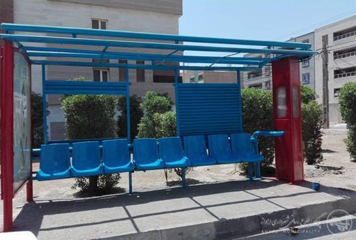 بهسازی و رنگ آمیزی ایستگاه اتوبوس فاز۳ کوی ملت توسط منطقه۳
