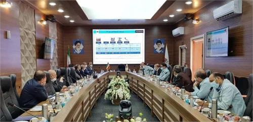 نشست مسئولان شرکت فولاد خوزستان با سرمایه گذاران حوزه فولاد و برق رامهرمز