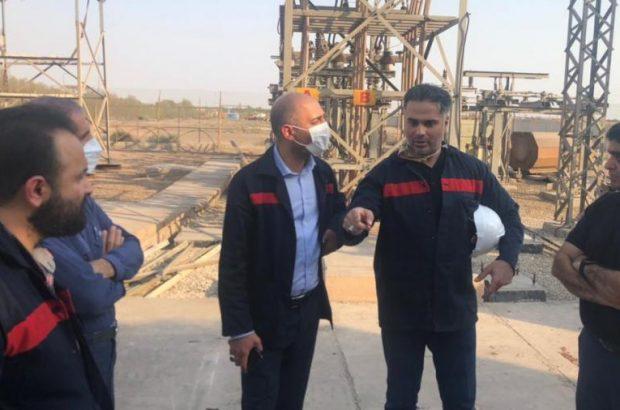 بازدید سرپرست مدیریت عامل شرکت فولاد اکسین از خط تولید