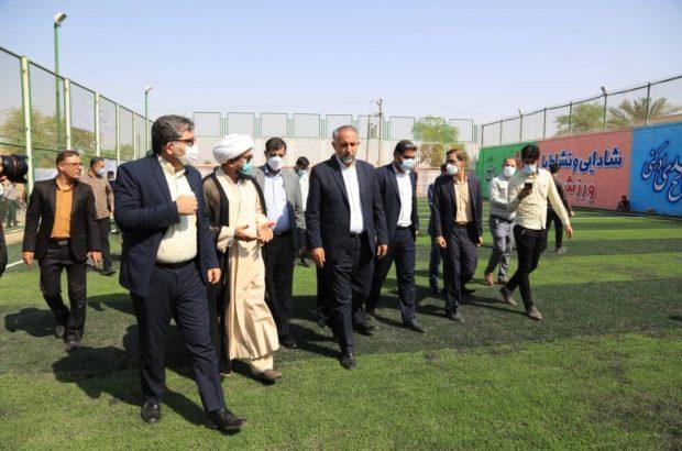 زمین چمن مصنوعی شهرستان رامشیر افتتاح شد