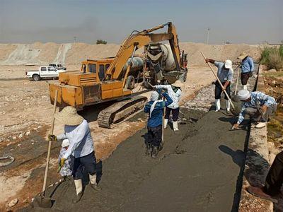 عملیات ترمیم سازه آبی مهم در منطقه شمال خوزستان انجام شد