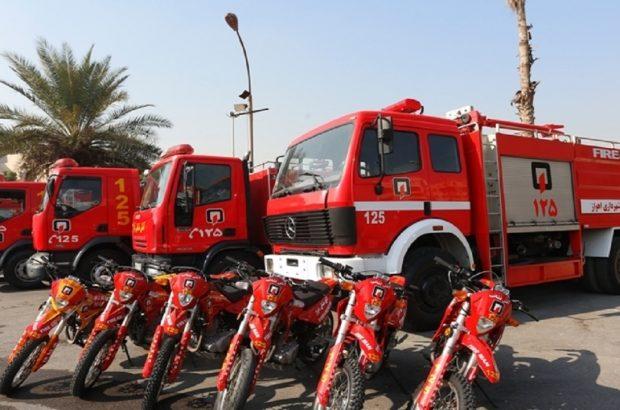 روز پرکار آتش نشانی اهواز