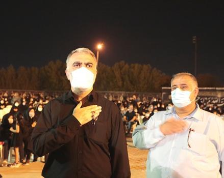 برگزاری مراسم شام غریبان و تشییع شهید گمنام با حضور سرپرست شهرداری اهواز