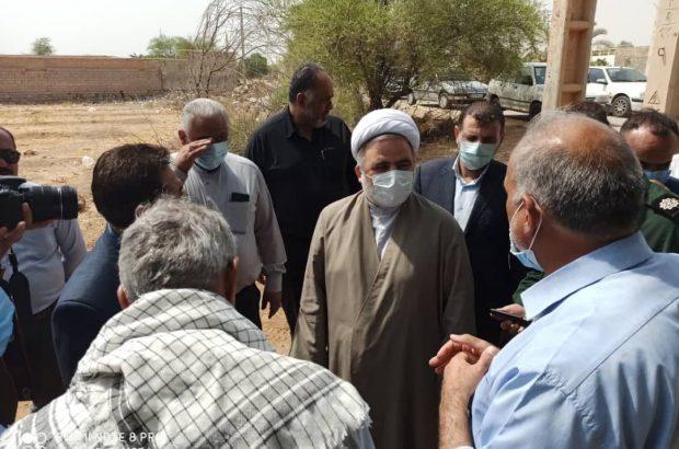 بازدید رئیس کل دادگستری خوزستان از روستاها، رودخانه های محلی و زمین های کشاورزی هویزه و دشت آزادگان