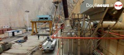 برخورد صاعقه با برقگیر نیروگاه اول سد شهید عباسپور