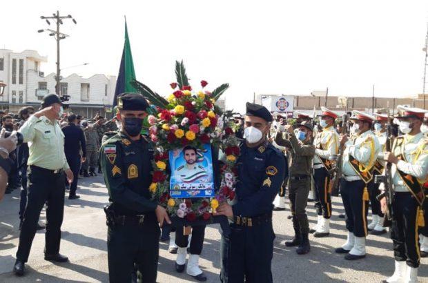 پیکر شهید مدافع امنیت در شادگان تشییع شد