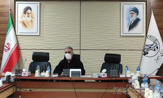 برگزاری جلسه مشترک معاونین خدمات شهری و فنی عمرانی مناطق شهرداری اهواز