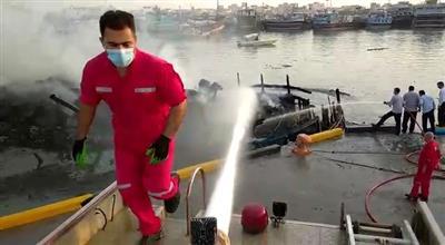 آتش بندرگاه گناوه به كمك نفت و گاز گچساران فرونشست