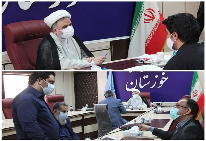 در دیداری چهره به چهره صورت گرفت؛ رسیدگی به درخواست قضایی بیش از ۳۰ نفر از مراجعه کنندگان به دادگستری خوزستان